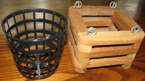 Net Pots And Teak Baskets